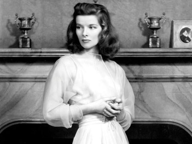 Who does Katharine Hepburn play in The Philadelphia Story?