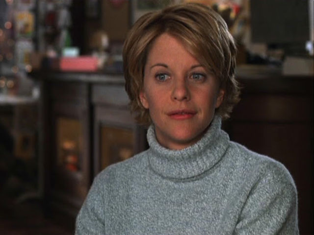 Meg Ryan plays Kathleen Kelly in You've Got Mail!