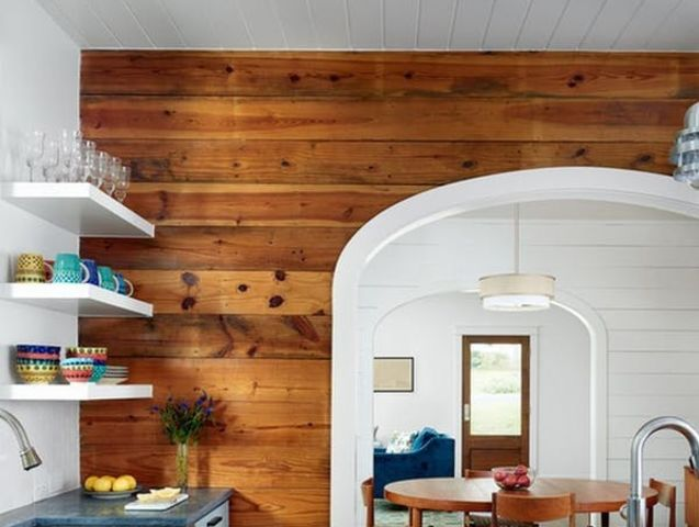 Technically, it's inexpensive, durable wood paneling with recessed and overlapping joints that first appeared in handcrafted boats and later migrated to barns and now older homes. Basically, it's a layer of wood that served the same purpose as sheetrock before it was invented, but now you'll find refreshed shiplap in stylish modern farmhouses all over America.