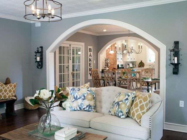 A cased opening is basically a large entryway into a room with no attached doors that is still covered with molding or trim the way a door would be.