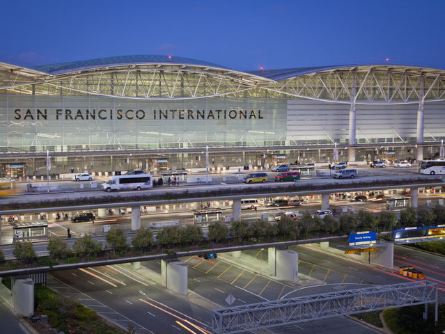 SFO! Fun fact: SFO airport stood in for Honolulu International Airport in the 2014 movie Godzilla.