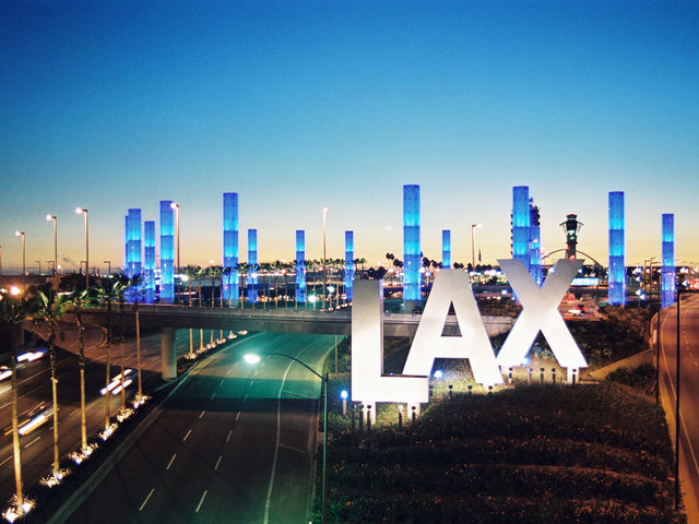 Los Angeles! This airport frequently appears in movies and TV shows. Film shoots at the Los Angeles airports, including LAX, produced $590 million for the Los Angeles region from 2002 to 2005.