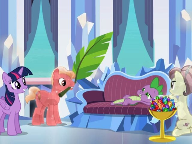 Spike Is Know To The Crystal Ponies As