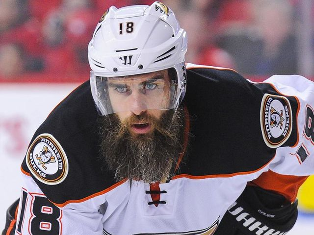What player's beard has a touch of gray?