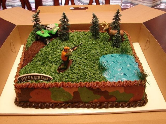hunting birthday cakes
