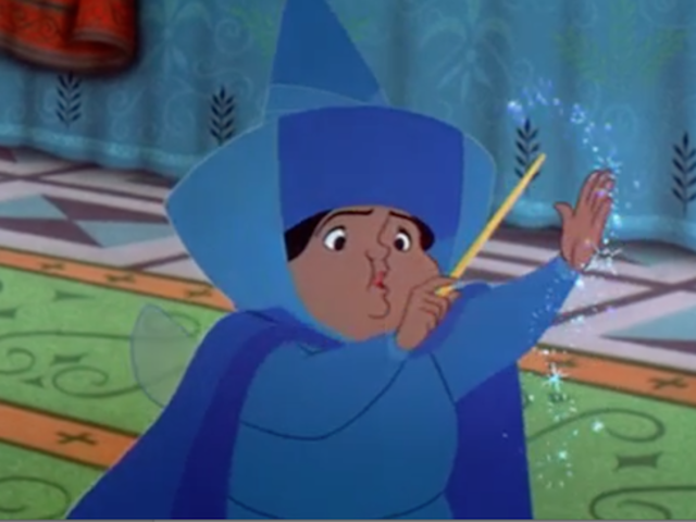 "It's Merryweather from ""Sleeping Beauty""!"