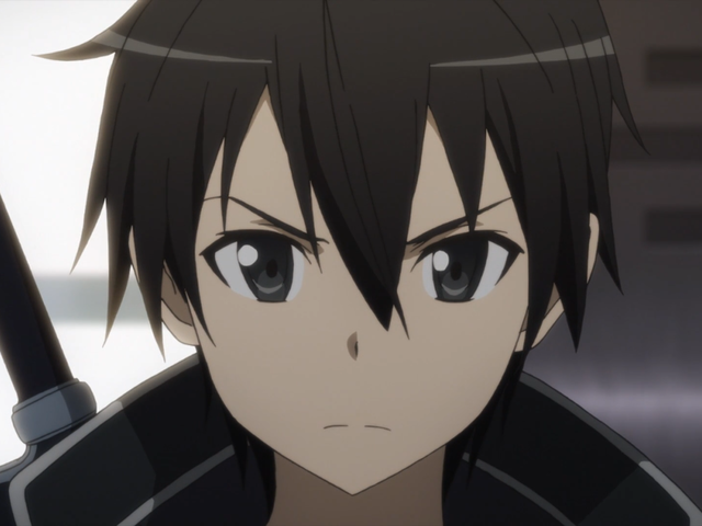 Kirito from Sword Art Online. (If you don't know the character then just go off how they look or google it)