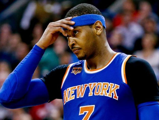 Carmelo Anthony got traded to the Knicks in 2011, who traded him?