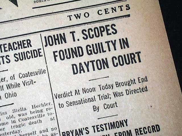 What was the name of the famous Defense Attorney who took part in the Scopes Trial?