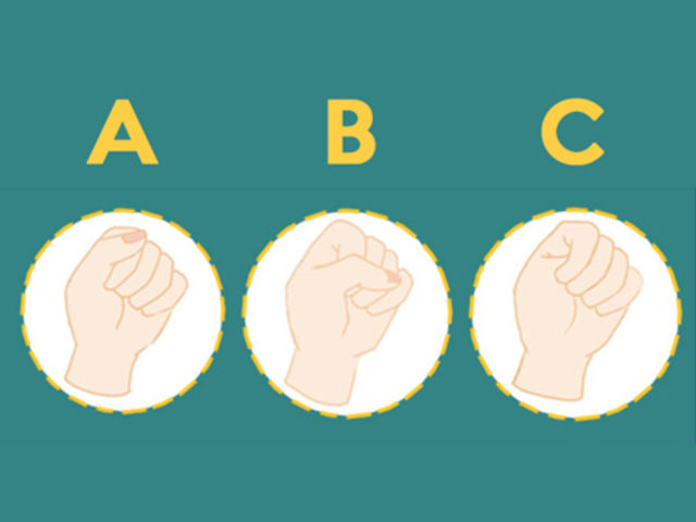 When someone asks you to make a fist, which one from these is your pose?