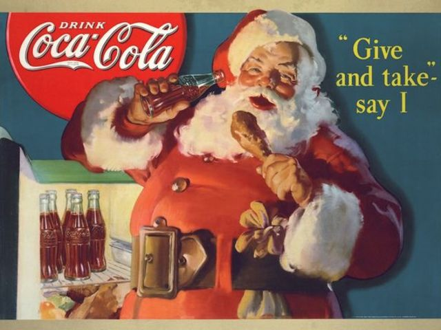 True or False: The Coca-Cola Company is credited with inventing the modern representation of Santa Claus.