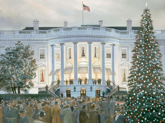 Which American president banned Christmas trees in the White House?