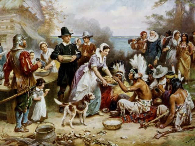 What now-common utensil was missing from the first Thanksgiving dinner?