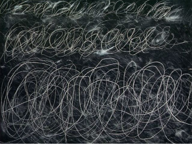 Is this the work of a famous artist, or a child's scribble?