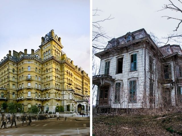 People claim that there are ghosts in one of these buildings. Which one is it?