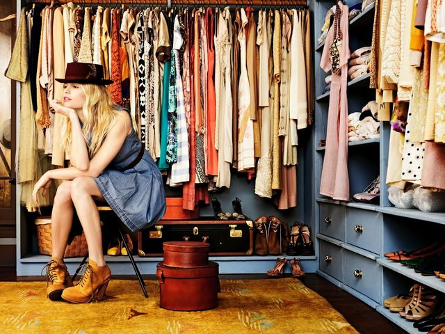 Describe the clothes hanging in your closet/dream closet