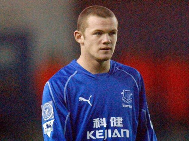 Rooney played for Everton up until signing with Manchester United in 2004.