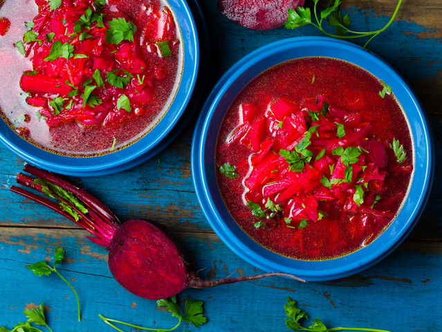 Borsh (traditional vegetarian red soup)