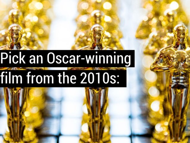 Pick an Oscar-winning film from the 2010s: