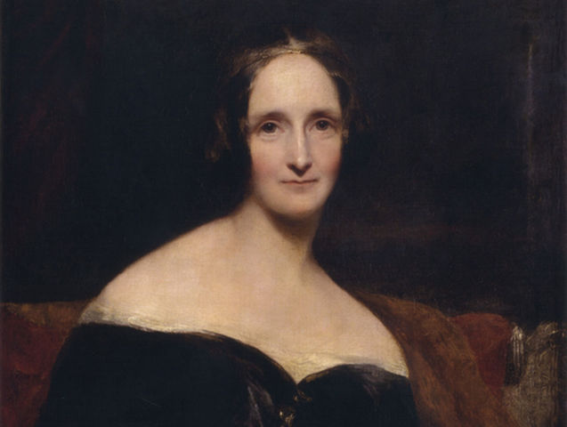 Mary Shelley wrote Frankenstein! Fun fact: it was also the first sci-fi novel.