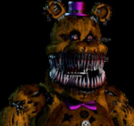 Nightmare Fredbear Is In My Opinion The Scariest Character FNAF 4 Besides His Darker Counterpart And Has A Purple Bowtie Black White
