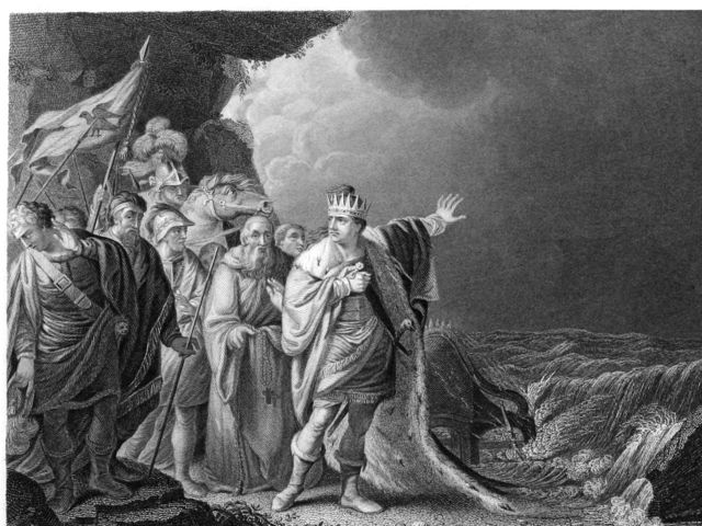 King Canute ordered the waves to part