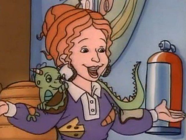 "If you were to check Ms. Frizzle's magic bus driving license, it would read ""Valerie Frizzle!"""