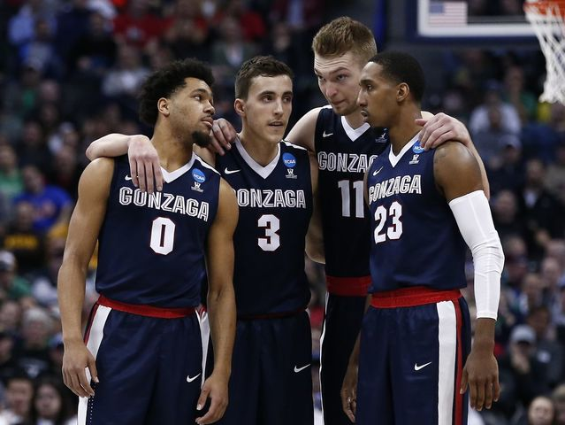 Gonzaga upset Seton Hall and Utah before losing to fellow double digit seed Syracuse in the Sweet 16.