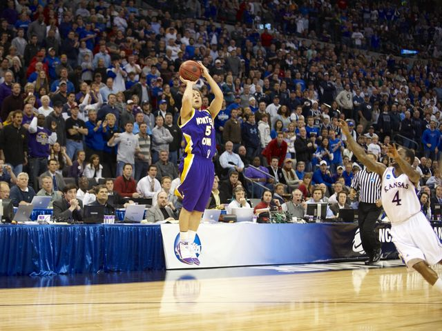 Farokhmanesh sunk the chances of No. 1 overall seed Kansas in the second round of the 2011 tournament.