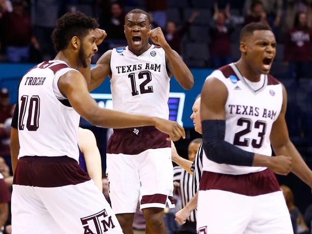 In the second round, Texas A&M put together the biggest last-minute comeback in NCAA history against Northern Iowa. How much were the Aggies down by in the last minute?