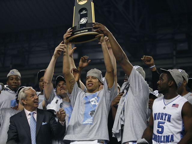 Tyler Hansbrough, Ty Lawson and Wayne Ellington led UNC to the title in 2009.