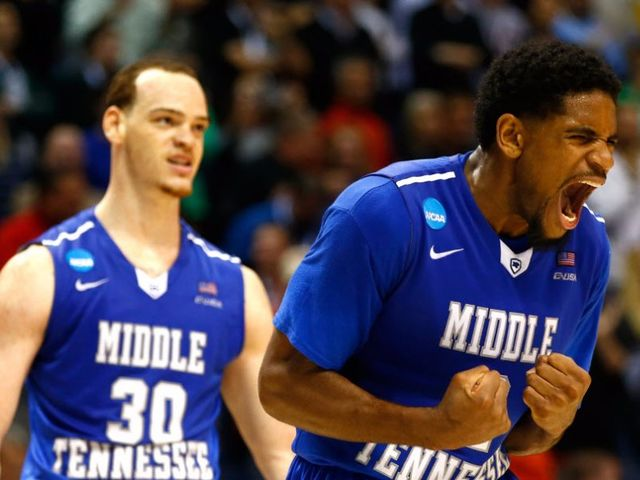 The first round had 10 double digit seeds win games. Which team was the lowest seed to win after Middle Tennessee?