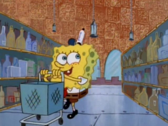 Does Spongebob find the spatula?
