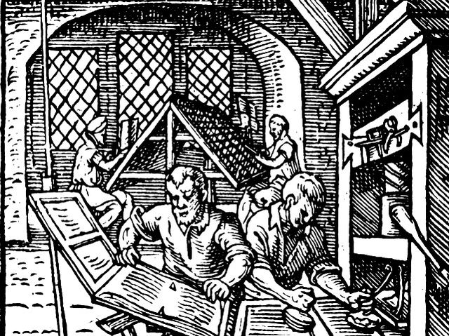 What year did Johannes Gutenberg invent the printing press?
