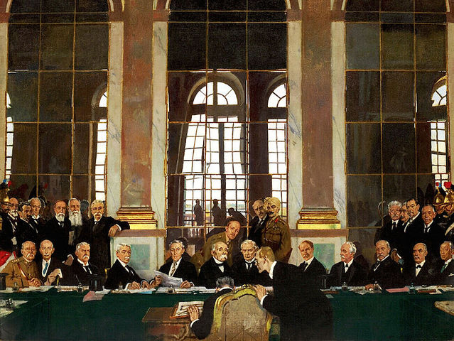 What year was the Treaty of Versailles signed