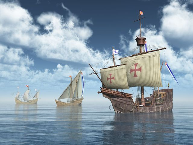 What year did Christopher Columbus reach the New World?