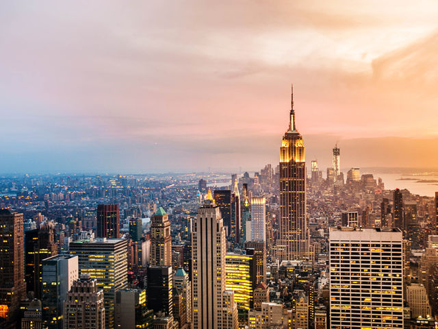 It's New York of course! With some of the most famous sights in the world - from the Statue of Liberty to the Empire State Building, the big apple makes for a magical city break.   Not ticked it off the 'must-see' list yet?  Check out the Top 10 New York hotels here:   http://top10.co/gNKsHwW