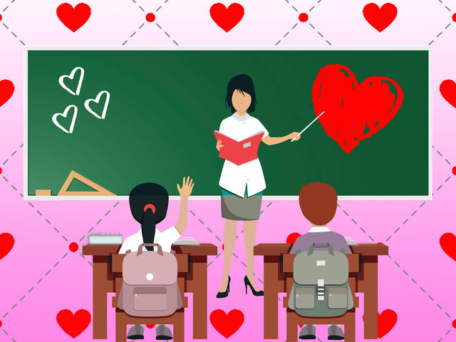 Teachers receive the highest percentage of Valentines sent or given annually.