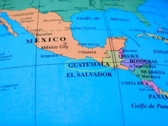 Guatemala is located just south of Mexico and is part of North America!