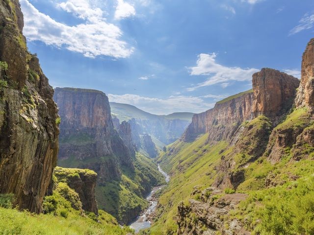 On which continent will you find Lesotho?