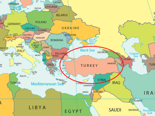 Although located right next to Europe, Turkey is considered an Asian country!