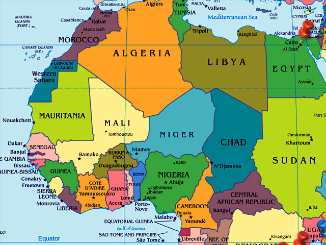 Egypt is located in northern Africa!