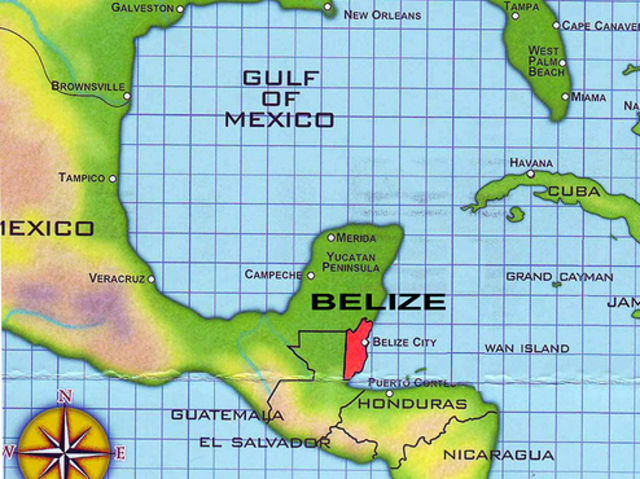 Belize is located just south of Mexico in North America!