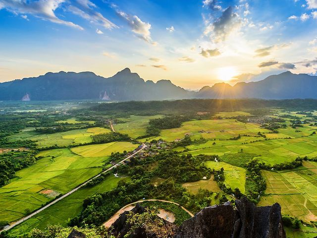 On which continent will you find Laos?
