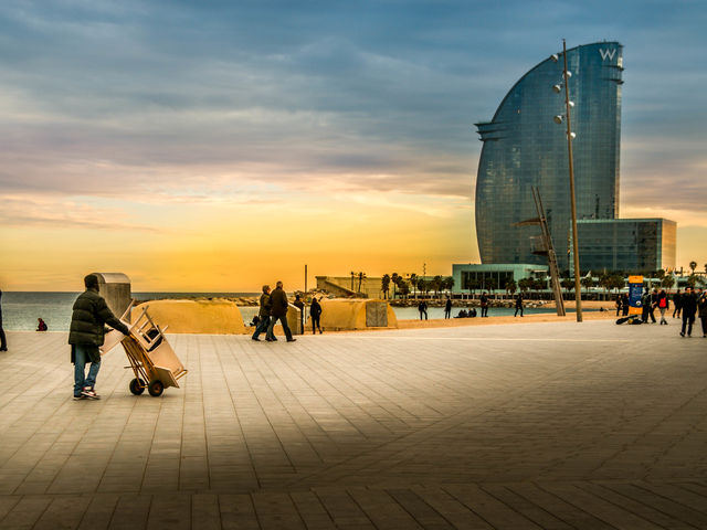 Barcelona, Spain, is a modern and beautiful city, where life and colours are everywhere.
