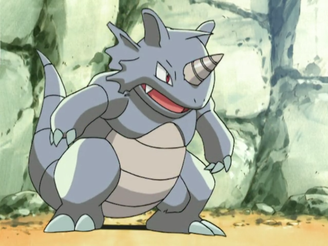 Rhydon is half ground-type and half what?