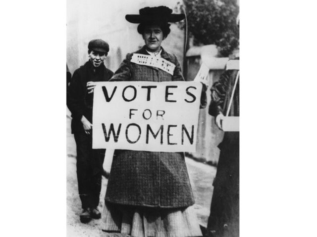 Why weren't women allowed to vote in the United States?
