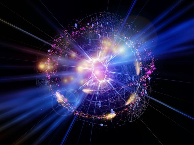 What is the angular movement of a quantum particle called?