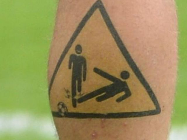 Which footballer has this tattoo?