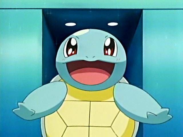 What kind of accessory did the Squirtle Squad wear?